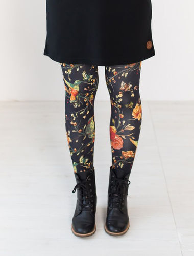 Blaa MIAMI-leggings, Tropic flower, aikuisten