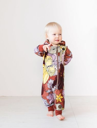Blaa MILAN-jumpsuit, Flower field