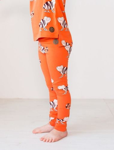 Blaa PARIS-leggingsit, Chameleon orange