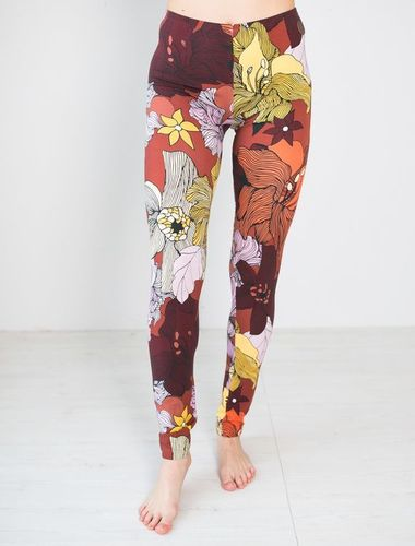 Blaa MIAMI-leggings, Flower field, aikuisten